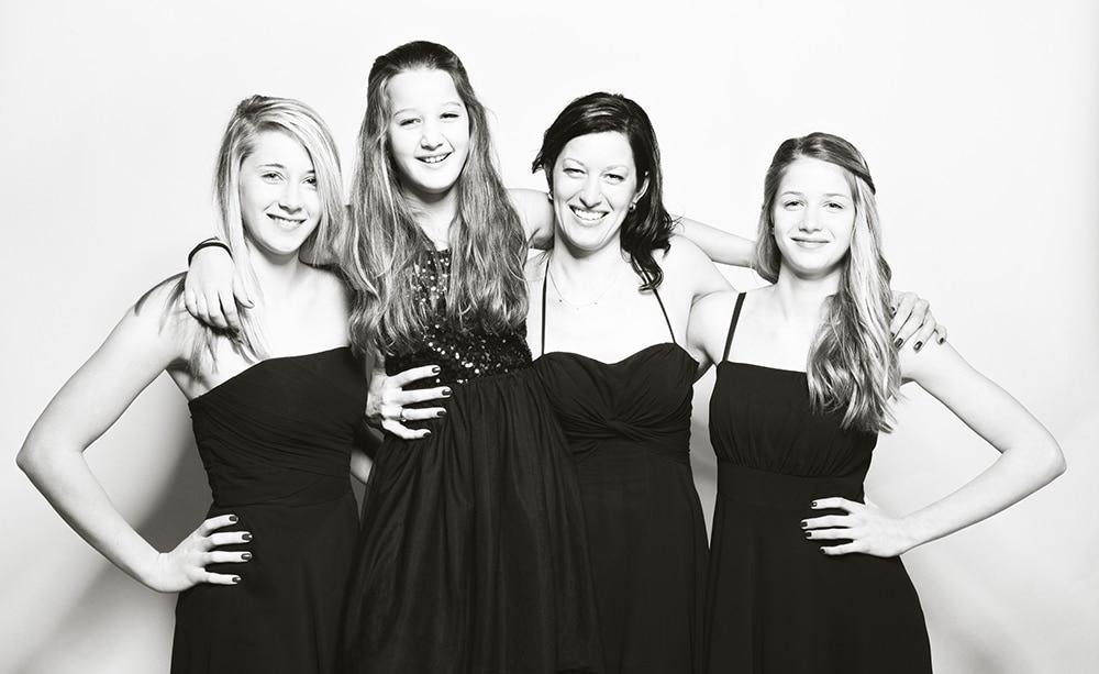 Vier Girls + ICH = Zwei sehr sehr lustige Stunden – Familienfotos