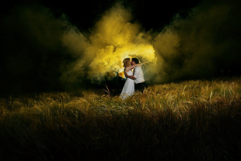 Fotoshooting mit Rauchgranaten