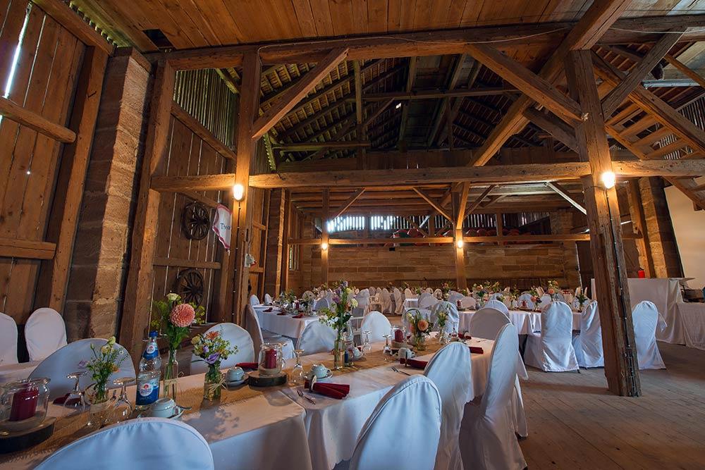 Hochzeitsscheune Schloss Wernstein