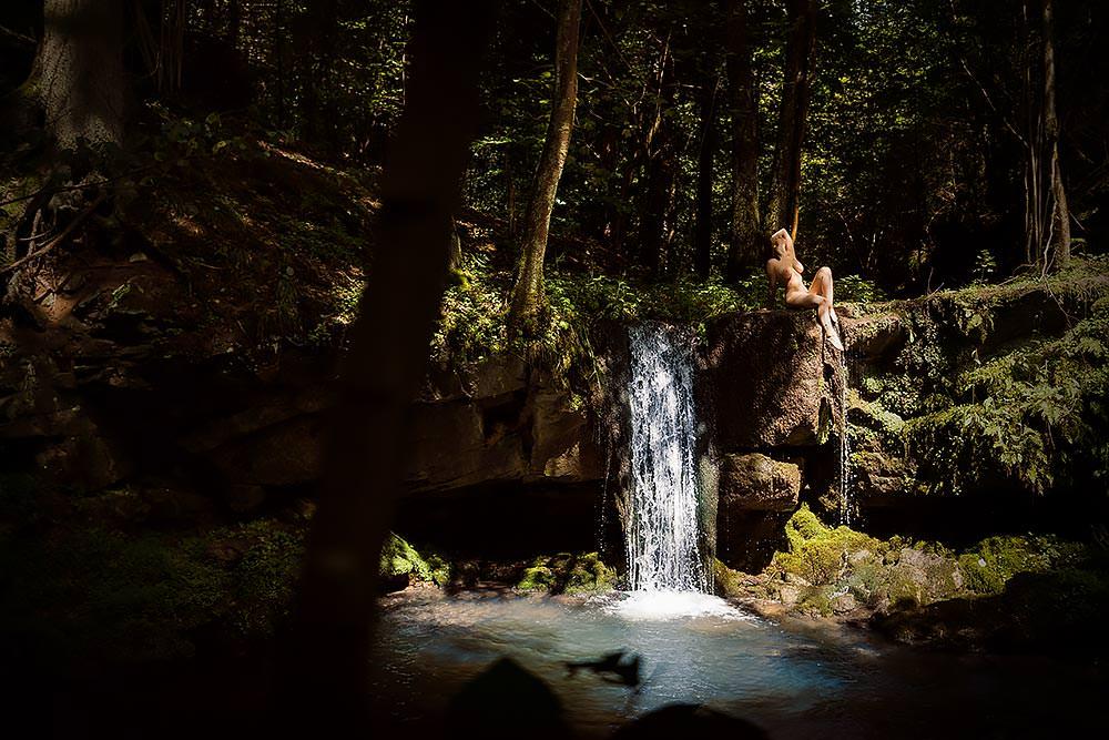 Fotograf Wasserfall Fotoshooting