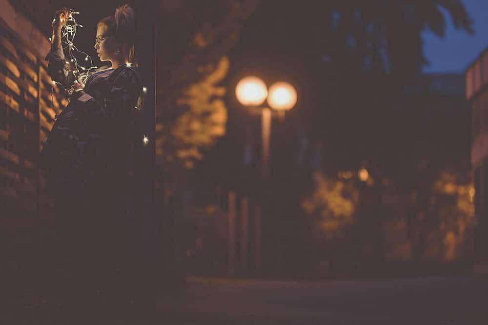 Lichterketten Fotoshooting
