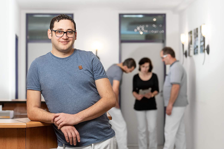 Werbefotografie beim Physiotherapeuten Sergiu Farcas